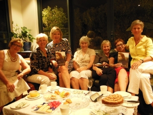 The lovely ladies in Janet Moullin's book club, March 2014. I was especially impressed at Janet's themed supper of all things Scottish: smoked salmon, Dundee cake and shortbread :-)