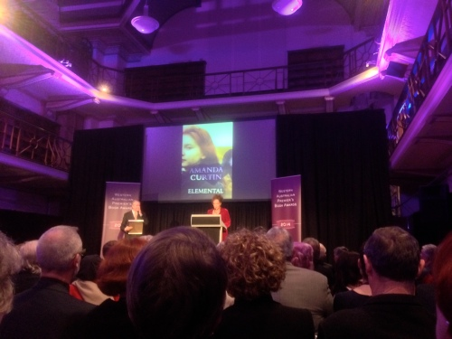 A huge event for 2014: announcements of the WA Premier's Book Awards. Elemental was shortlisted in the Fiction and People's Choice categories.