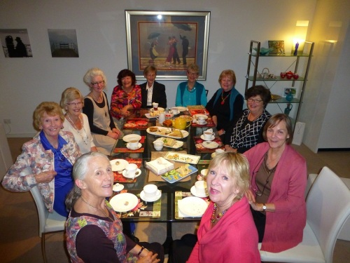 Rose van Son invited me to talk to the lovely ladies of the Gooseberry Hill Book Club. Photo courtesy Arnold van Son