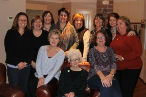 With the fabulous First Edition Book Club—ten years and still going strong (July 2014): Maureen, Apryl, Ronnie, Sally, Linda, Leigh, Dawn, Imelda, Karen, Michelle