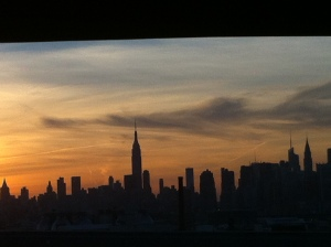 I took this picture from a New York cab on the way to Brooklyn to see Steve Buscemi reading the poetry of William S. Burroughs, which one of my students got for me. It is an image of New York City you don't often see.