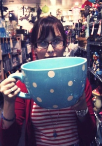 emily paull with giant teacup