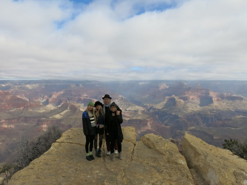 At the Grand Canyon with 'the girls'