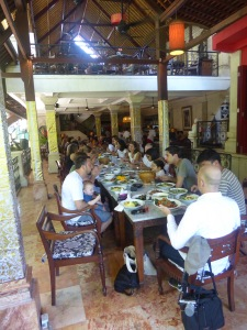 Farewell brunch for writers, Casa Luna