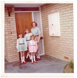 Mum, my sisters and me
