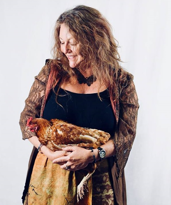 author photo with chook 3